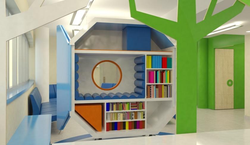 Visita al doctor- Playoffice está colaborando con la empresa Sanitas para diseñar las zonas de espera de pediatría de dos de sus clínicas Milenium en Madrid.