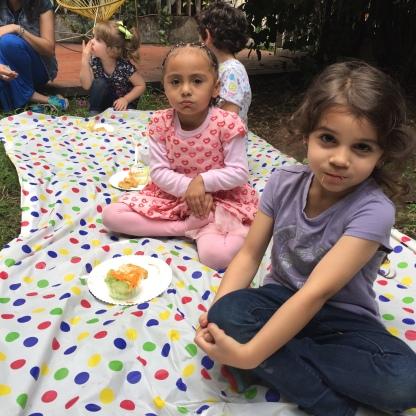 Les encantó que fuera picnic (¡por suerte no llovió!).